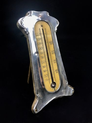 Antique Sterling Silver And Bone Thermometer / Chester Hallmarked / 1911